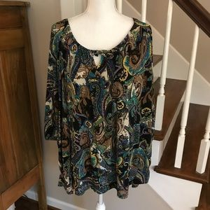 Avenue paisley tunic top. Size 30/32